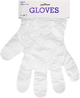 Clear Plastic Gloves for Cooking, Cleaning - 100 pcs Disposable Polyethylene Gloves for Food - Latex Free Gloves - Clear Food Prep Gloves - Food Handling Gloves
