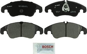 Bosch BP1322 QuietCast Premium Semi-Metallic Disc Brake Pad Set For Select Audi A4, A4 Quattro, A5, A5 Quattro, A6, A6 Quattro, A7 Quattro, allroad, Q5, S4, S5; Mercedes-Benz E300; Front