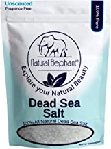 Dead Sea Salt Coarse Grain 5 lb (2.25 kg) by Natural Elephant 100% Natural & Pure for Psoriasis Eczema Acne & Other Dermat...
