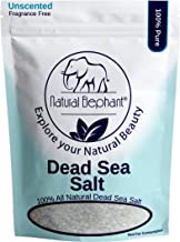 Dead Sea Salt Coarse Grain 5 lb (2.25 kg) by Natural Elephant 100% Natural & Pure for Psoriasis Eczema Acne & Other Dermatological Needs