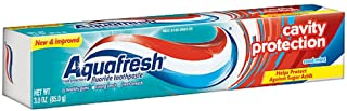 Aquafresh Cavity Protection Fluoride Toothpaste, Cool Mint 3 oz (Pack of 6)