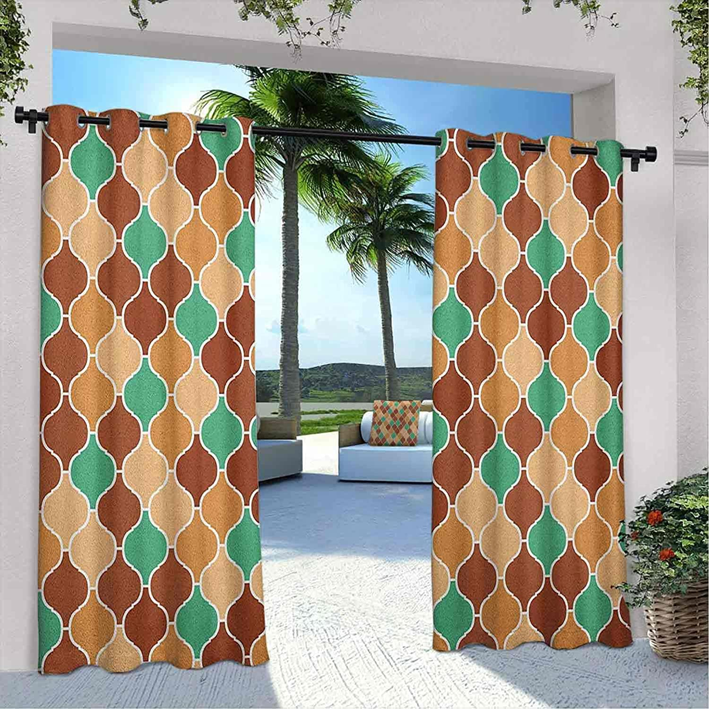 Outdoor Pavilion Quatrefoil Max 64% OFF Curtain Memphis Mall Arabic Orname Vintage Style