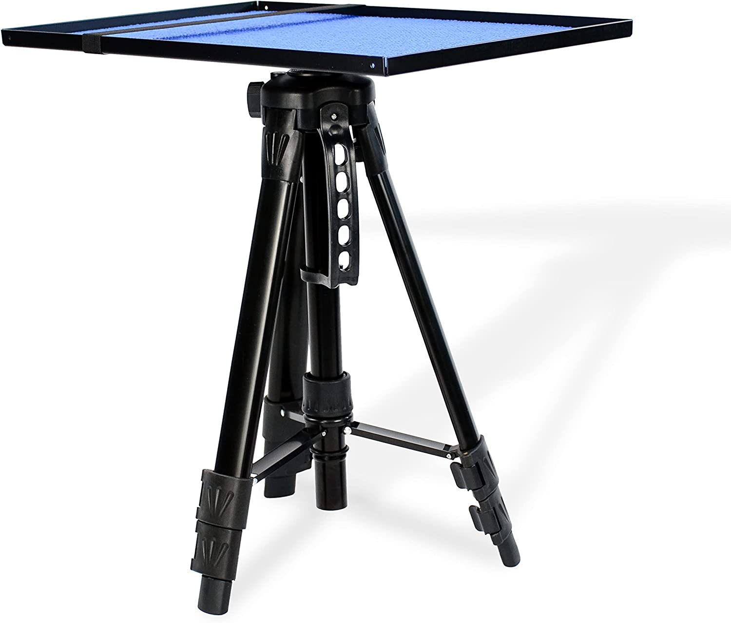 TORIBIO Universal Laptop Projector Tripod Stand with Tray, Portable Computer, Tablet, DJ Equipment Holder Mount, 17