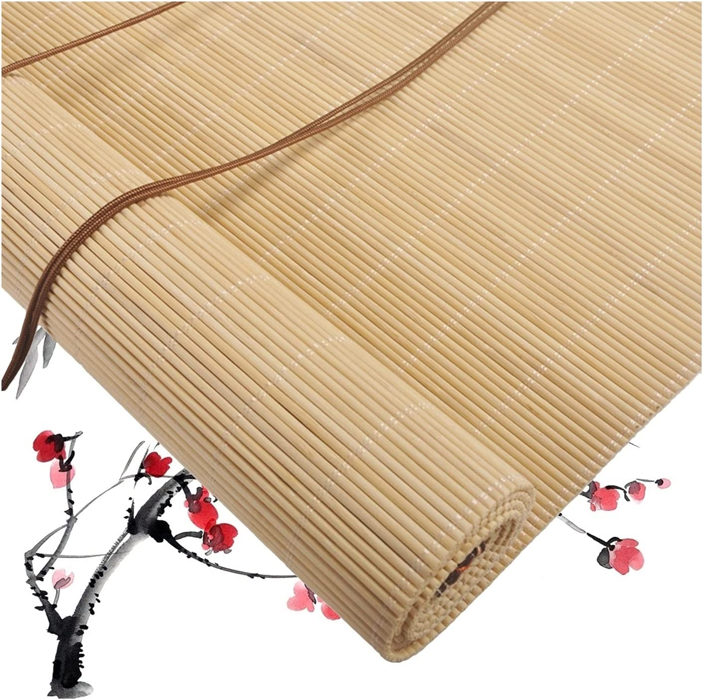 LM-Coat rack XINGLL Natural Max 54% OFF Bamboo Roller Spasm price Dustproof Home Blinds