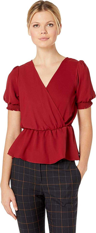 American pink Womens Kendra Short Sleeve Blouse