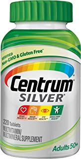 Centrum Silver Multivitamin for Adults 50 Plus, Multivitamin/Multimineral Supplement with Vitamin D3, B Vitamins, Calcium ...