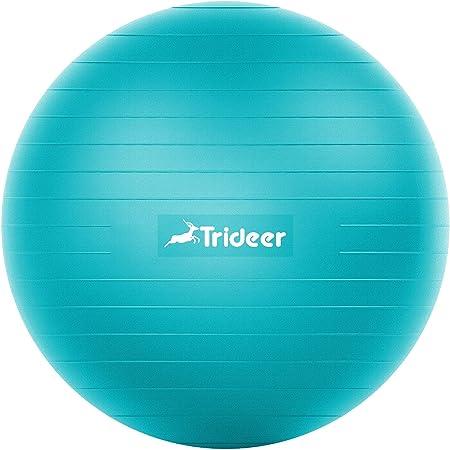 Trideer バランスボール 45/55/65/75cm 厚い 耐荷重500KG アンチバースト 滑り止め フットポンプ付き フィットネスボール ピラティスボール ヨガ 椅子