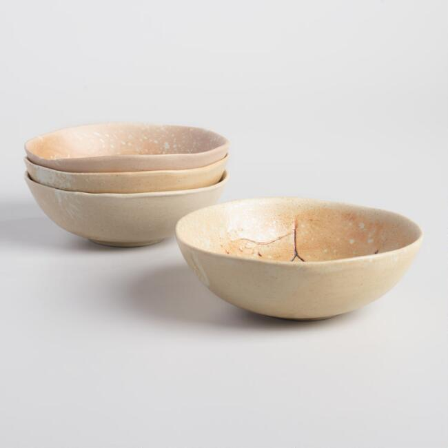 Sand Pressed Flower Anada Bowls Set of 4 | World Market