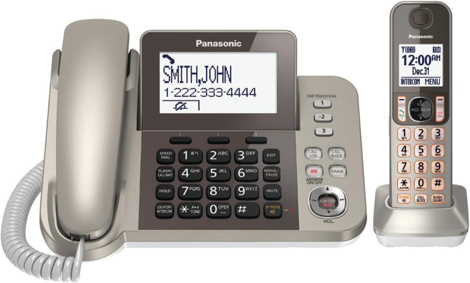 Panasonic KXTGF350N Dect 1-Handset Landline Telephone (Renewed)