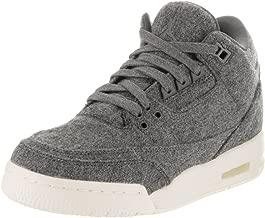 Jordan Nike Kids Air 3 Grey Wool Retro Basketball Shoes 7
