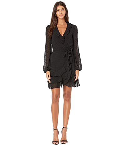 Bardot Triple Frill Dress (Black) Women