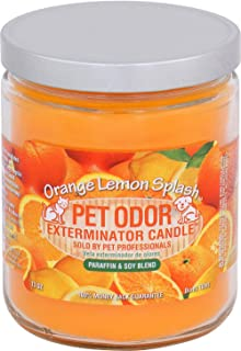 Pet Odor Exterminator Candle Orange Lemon Splash, Pack of 2