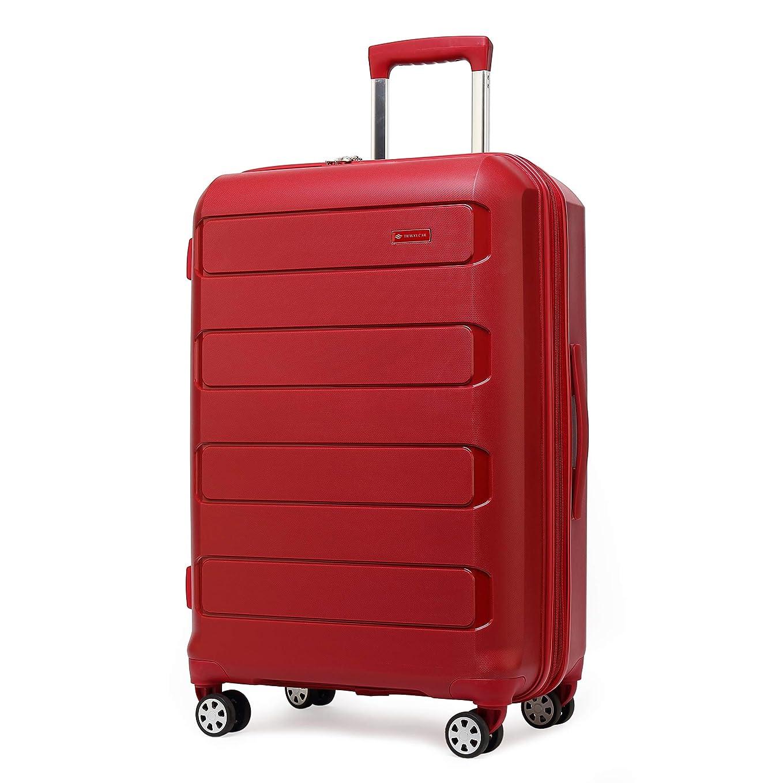 タービン大通りさておきクロース(Kroeus)スーツケース キャリーケース 容量拡張機能 PP100%ボディ TSAロック搭載 8輪 ファスナータイプ 超軽量 日本語取扱説明書 1年間保証付き