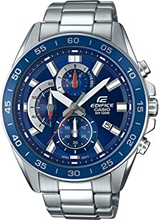 Casio Edifice Men's Blue Dial Stainless Steel Band Watch - EFV-550D-2AVUEF