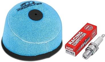Tune Up Kit Pre-Oiled Air Filter Spark Plug for Honda CR80R, CR85R, RB