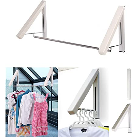 1×Aluminum Folding Creative Wall Hanger Hook Rack Holder Clothes Towel Coat Rack