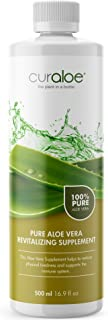 Healthy Pure Aloe Vera Juice by Curaloe | Men and Women Nutrition | Increase Energy | Immune System Booster | Heart Health | Digestive Care | Natural Detox | Reduces Joint Inflammation | Organic Drink