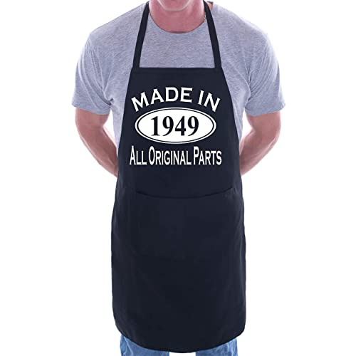 d3867c962d Made In 1949 70th Birthday BBQ Cooking Funny Novelty Apron