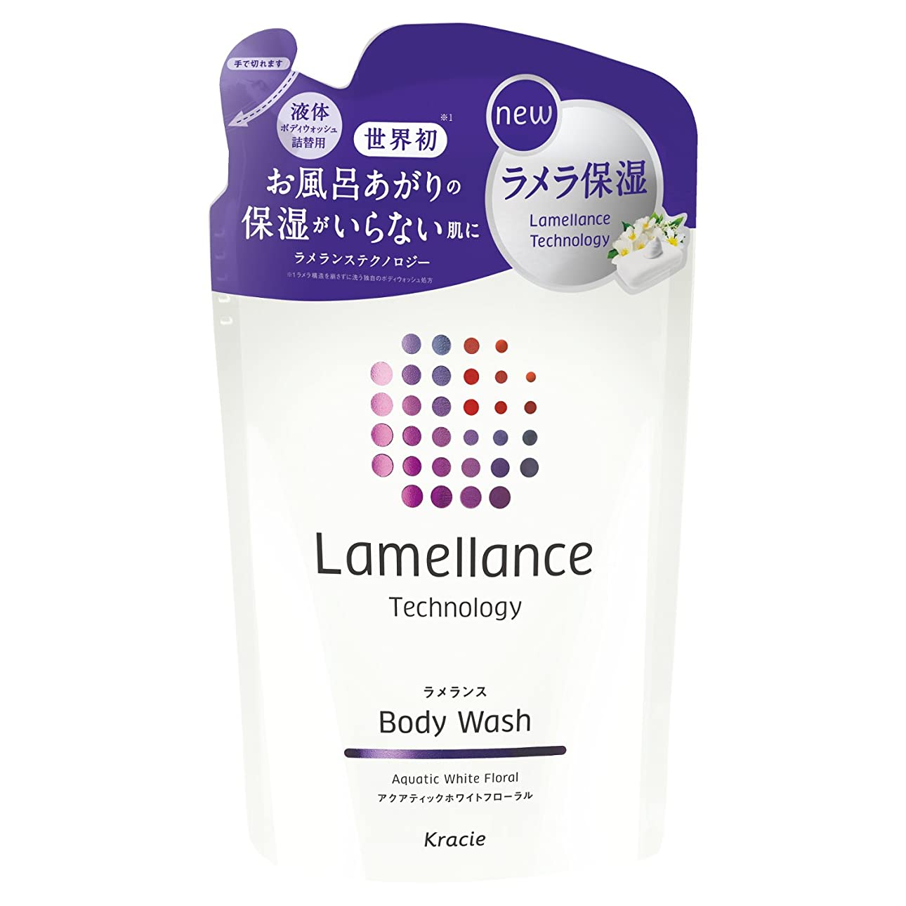 決定フローティングお風呂ラメランス ボディウォッシュ (ホワイト) 詰替用 360mL