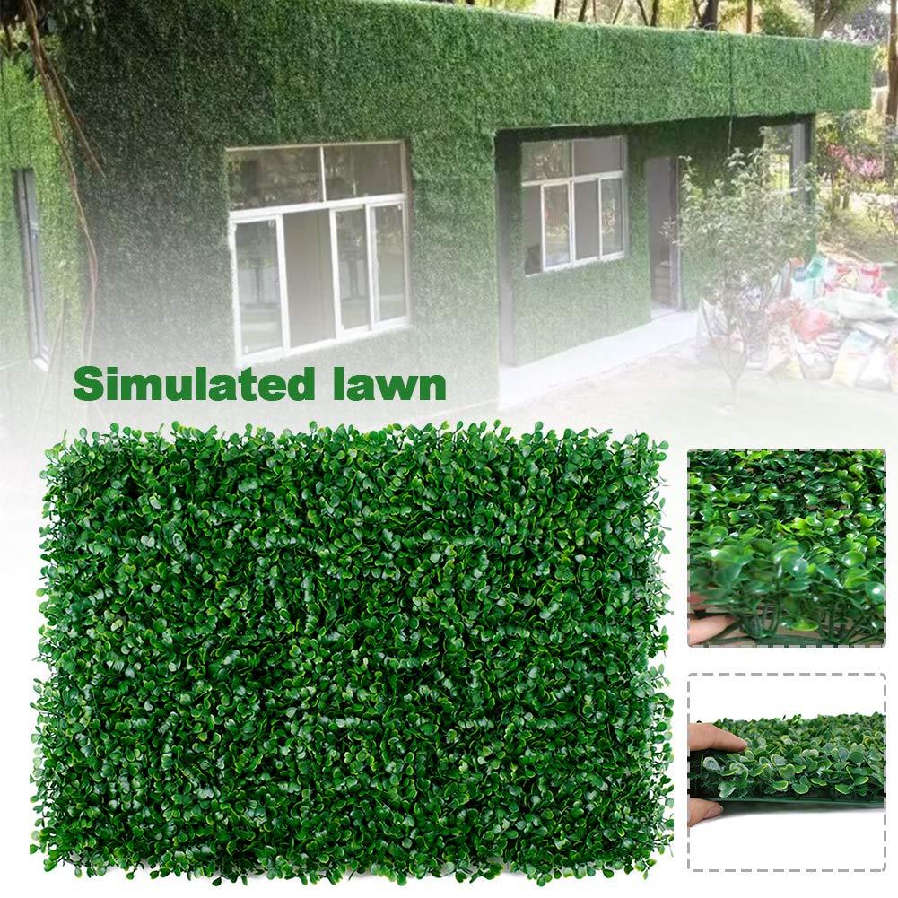 CVERY Artificial Planta Hierba Follaje Césped Pared Seto Decorativo Valla Panel Artificial Plástico Hierba Exterior, 40 X 60CM - como Imagen Show, 40 x 60 cm: Amazon.es: Hogar
