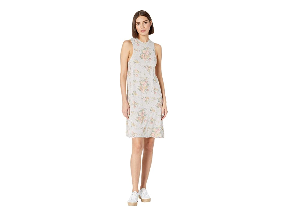 Alternative Eco A-Line Tank Dress (Eco Oatmeal Country Floral) Women