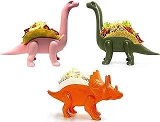 GulfDealz Ultrasaurus Dinosaur Taco Holder Stand For Kids And Dinosaur Lovers - BPA Free Plastic, Top-Rack Dishwasher Saf...