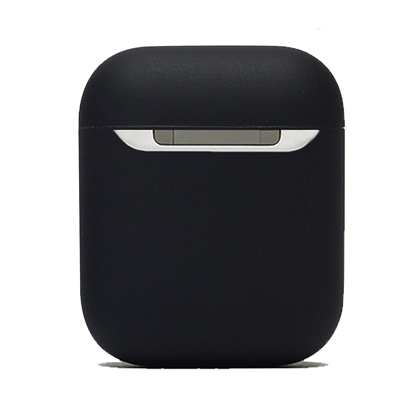 Protective Airpods Case [Front LED Visible][Supports Wireless Charging] Shock Proof Soft Skin for Airpods Charging Case 1&2 (Black2019)