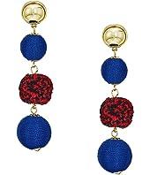 Rebecca Minkoff Threaded and Pom Sphere Drop Earrings