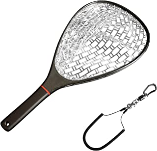 SF Fly Fishing Landing Net Soft Rubber Mesh Trout Net Catch and Release Net