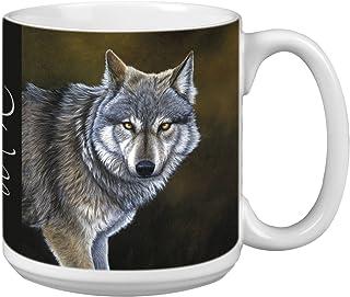 Classic Wolf Extra Large Mug, 20-Ounce Jumbo Ceramic Coffee Mug Cup, Animal Themed Wildlife Art - Gift for Wolf Lovers (XM...