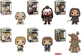 "Funko Lord of the Rings Gollum ~ Lurtz ~ Merry ~ Pippin & Aragorn 3.75"" Pop & Treebeard 6"