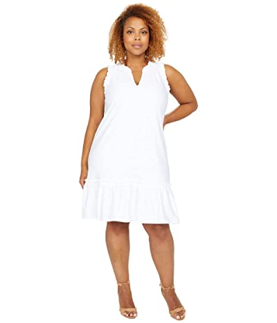 MICHAEL Michael Kors Floral Jacquard Ruffle Neck Dress Women