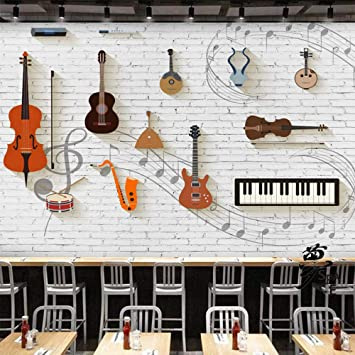 Background Wallpaper 3d Stereo Wallpaper Guitar Instrument Music Piano Classroom Cafe Bar Personality Retro Background Wallpaper 3d Wallpapers Wallpaper Paste Living Room Paste The Wall 200cm 140cm Amazon Co Uk Diy Tools