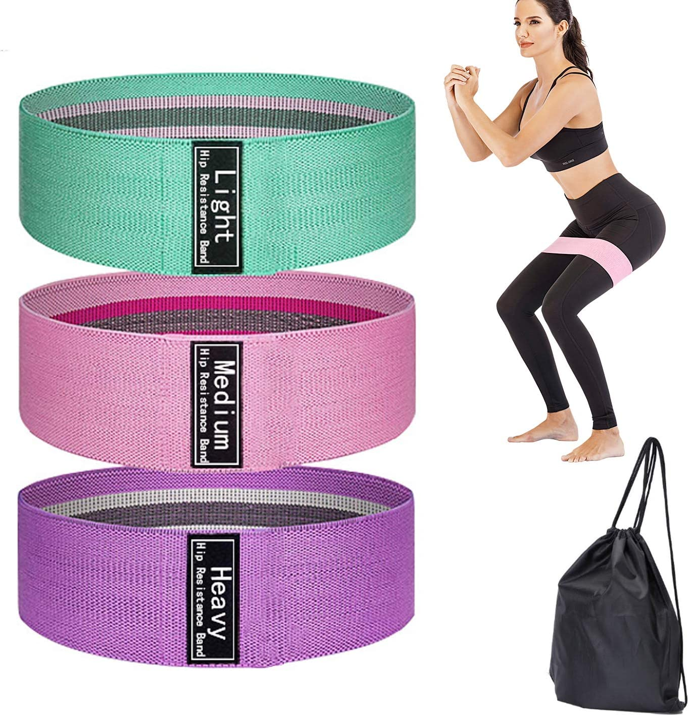 MAOXIC 3 pcs Resistance Bands Set and for Legs Butt Spor Booty 2021new Max 82% OFF shipping free