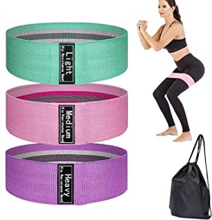 MAOXIC Resistance Loop Exercise Bands for Legs and Butt Hip Circle Thick Fitness Wide Fabric Glute Resistant Band Non Slip...