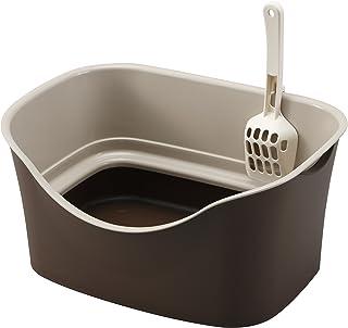 ボンビアルコン (Bonbi) ラクラク猫トイレ Wブロック ブラウン