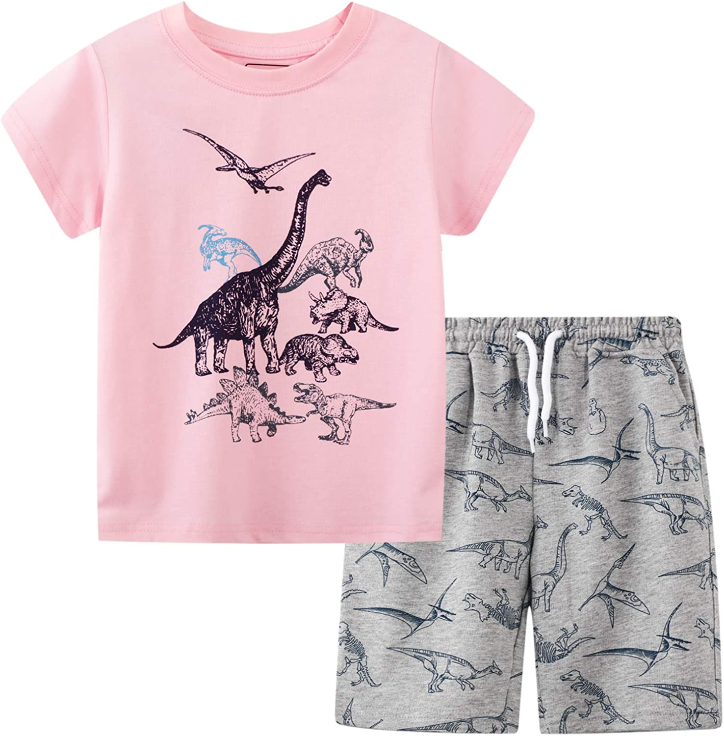 BIBNice Toddler Max 46% OFF Boy Summer Clothes Cotton Kids Sleeve Short OFFicial Outf