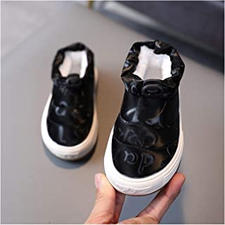 YOUPIN Kids Cotton Shoes Winter Children Plus Velvet Boys Warm Baby Footwear Non-Slip Comfortable Girl Round Toe Shoes (Co...