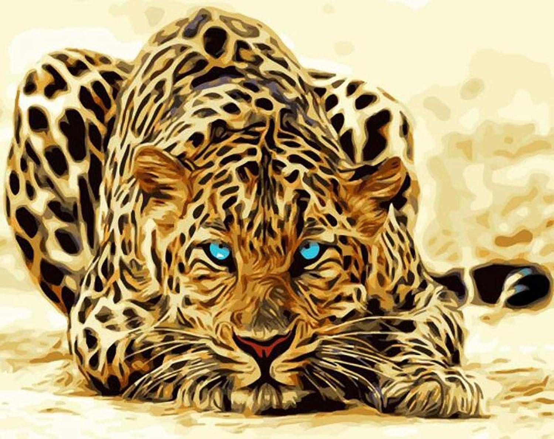 Liliya& Leopard Paint Digital Kit Erwachsenes Kind, Digital Painting - Leopard 40  50 Zoll B07NYQB4C8 | Qualität