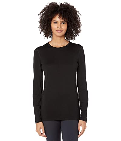 Icebreaker 260 Tech Merino Baselayer Long Sleeve Crewe (Black) Women