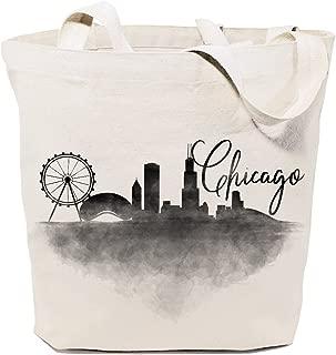 The Cotton & Canvas Co. Cityscape, Souvenir, Beach, Shopping and Travel Reusable Shoulder Tote and Handbag