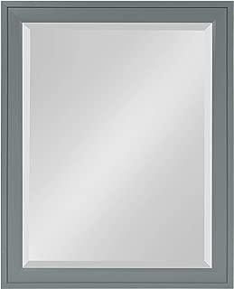 DesignOvation Bosc Framed Wall Mirror 21.5x27.5 Gray