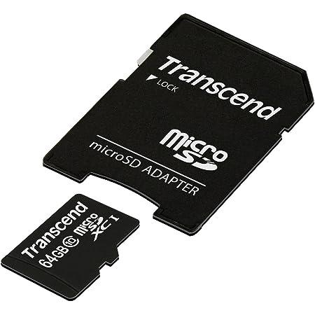 旧モデル Transcend microSDXCカード 64GB Class10 TS64GUSDXC10