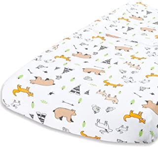 Cuddly Cubs Diaper Changing Table Pad Cover for Baby Girl or Boy | Soft & Breathable 100% Jersey Cotton | Adorable Unisex ...