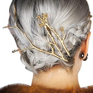 RechicGu Gold Plated Chic Runway 3Pcs Tree Branch Hair Pin Headband Dress Snap Barrette Clip Fascinator