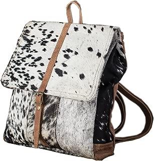 hair on cowhide backpack