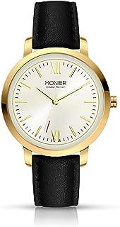Emelia Monier W Palace Gold Tone Women's Watch with Black Leather Strap EML001-02BL
