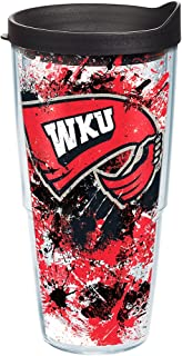 Tervis Western Kentucky Hilltoppers Splatter Tumbler with Wrap and Black Lid 24oz, Clear