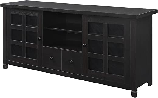 TV & Media Furniture ✅Convenience Concepts Designs2Go Newport Park Lane TV Stand, Espresso