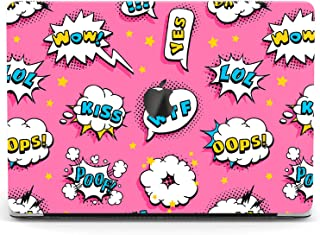 Wonder Wild Case for MacBook Air 13 inch Pro 15 2019 2018 Retina 12 11 Apple Hard Mac Protective Cover Touch Bar 2017 2016 2015 Plastic Laptop Print Pop Art Pattern Cute Pink Explosion Retro Comics